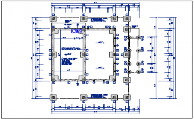Residential house plan detail, dimension & furnisher in room dwg file