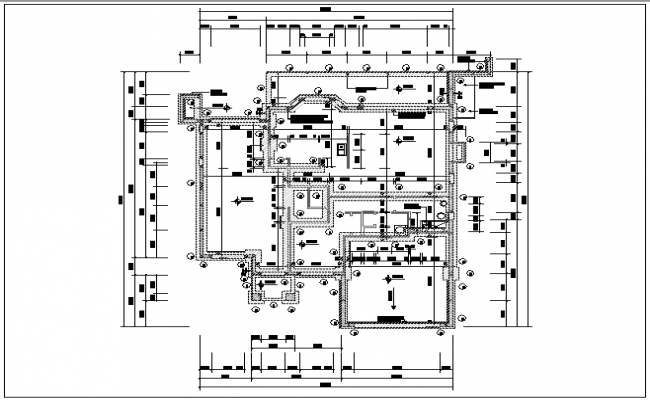 Working plan layout details dwg files