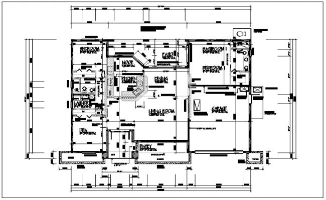 Working plan layout details dwg files