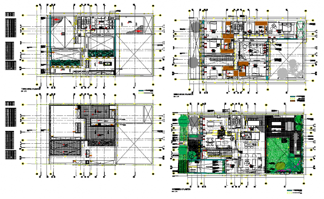 Working residence house plan autocad file