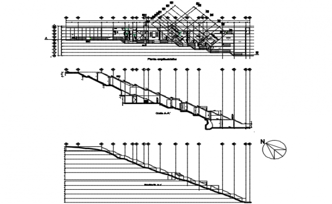 Working section house planning detail dwg file