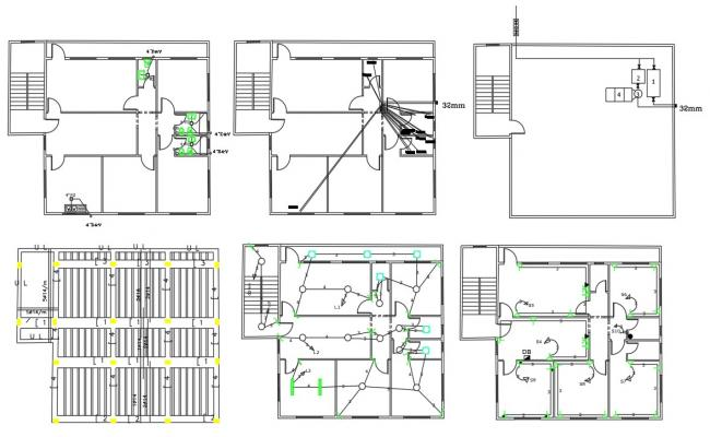 Working House Plumbing And Electrical Layout Plan DWG