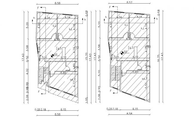 Working Plan Of Residential Building Design AutoCAD File