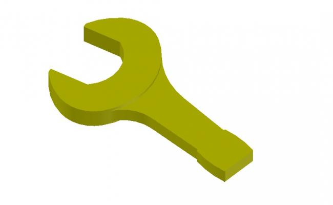 Wrench 3D Model In AutoCAD File
