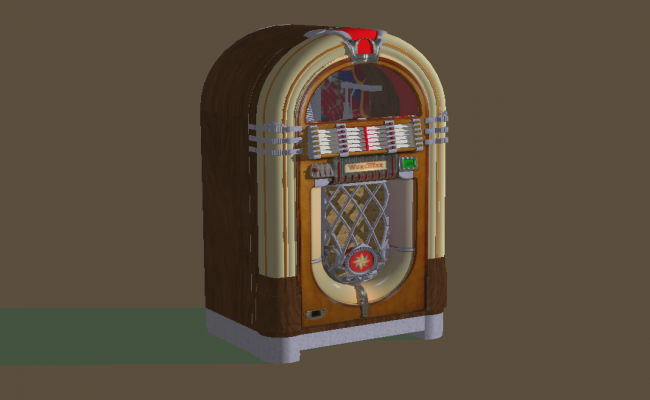 Wurlitzer Game Detail 3d model sketch-up file