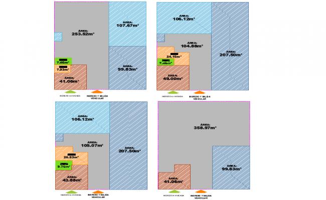 Zone housing plan dwg file