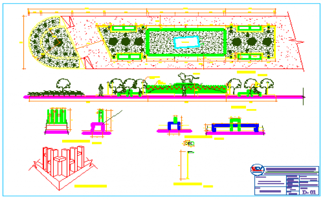 Zoo park design drawing