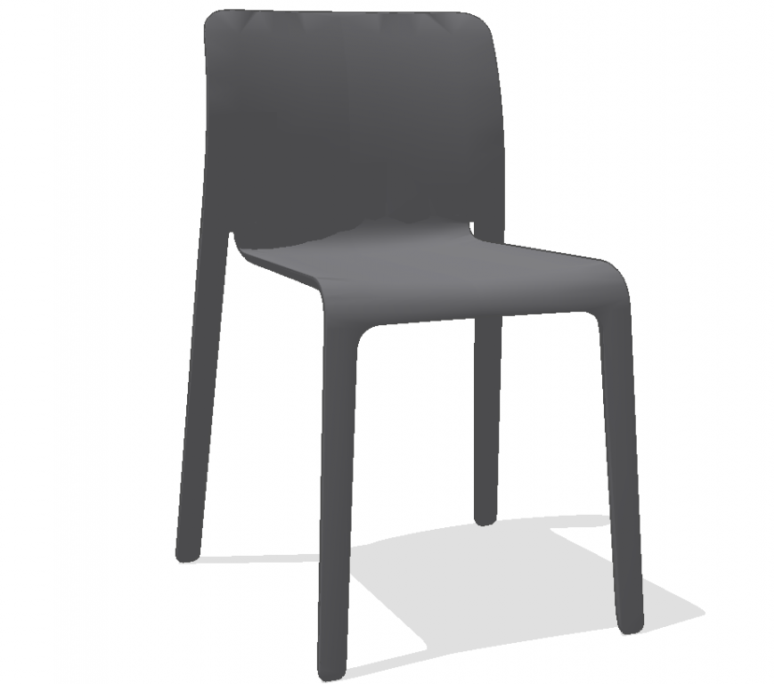 A chair plan with detail dwg file.