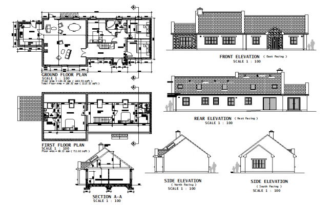 House Design DWG File