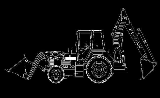 Bulldozer Elevations dwg