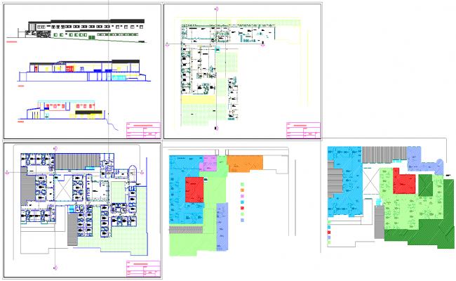 Hospital plan Drawing file