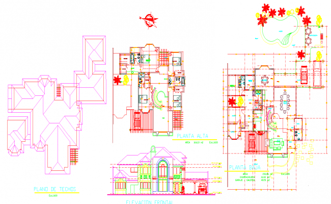 House dwg files
