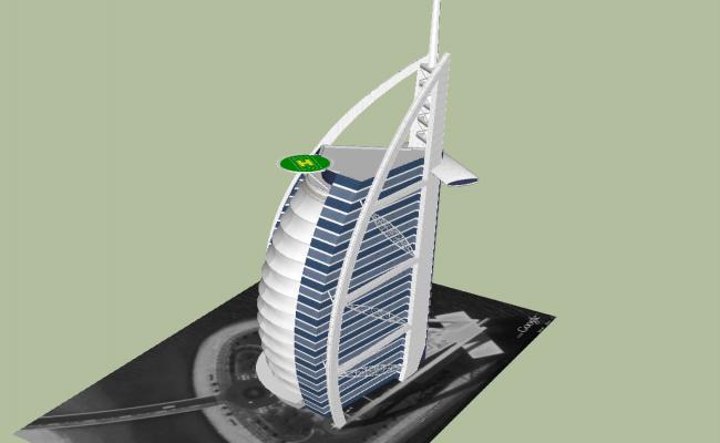 Burjarab 3d sketchup