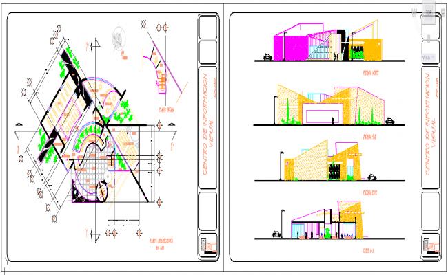 Library detail plan