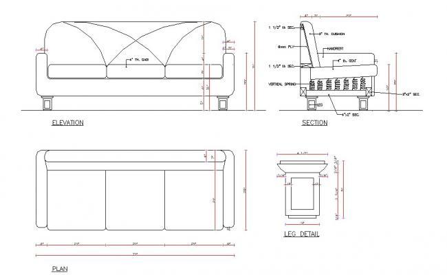 Sofa set Block design