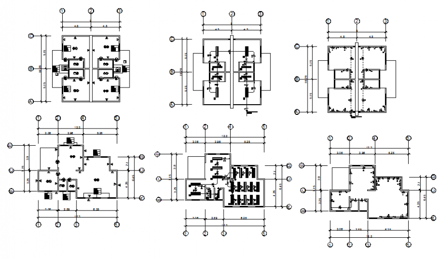 A Commercial building detail office plan autocad file