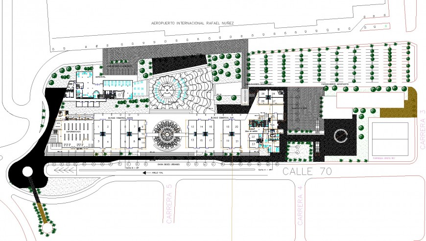 A Commercial building layout file