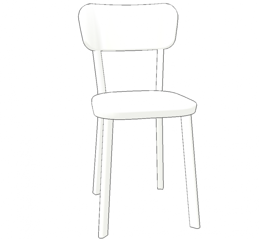 A designed chair plan & detail dwg file.
