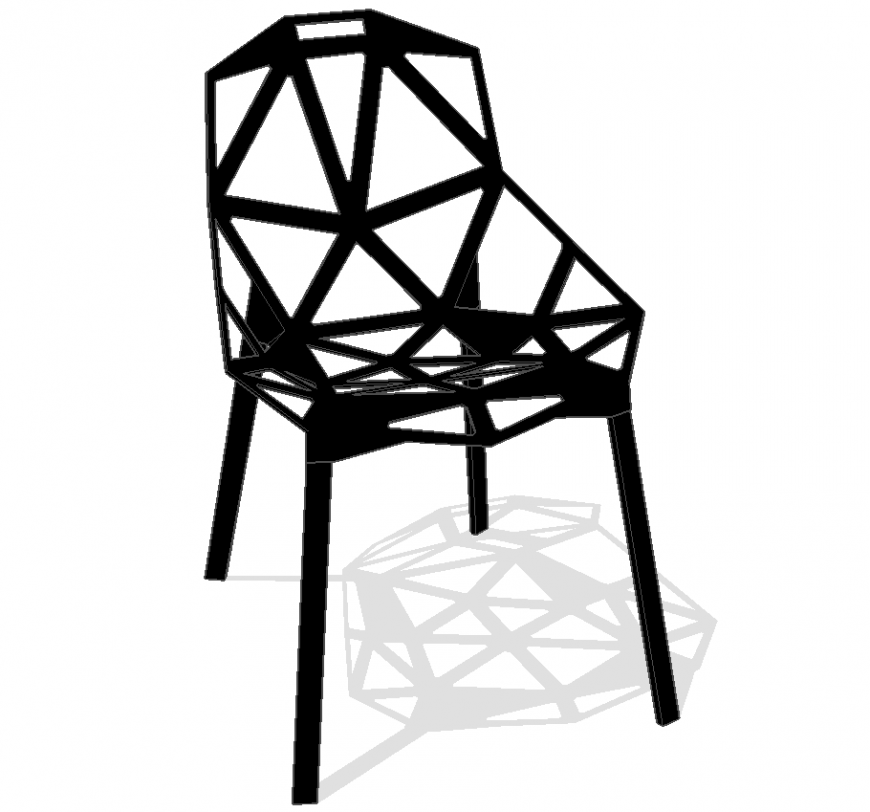 A designed chair plan detail dwg file.