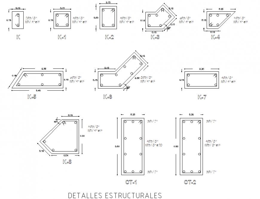 A Detail column section plan layout file