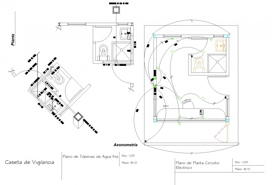 A Electrical house plan layout file