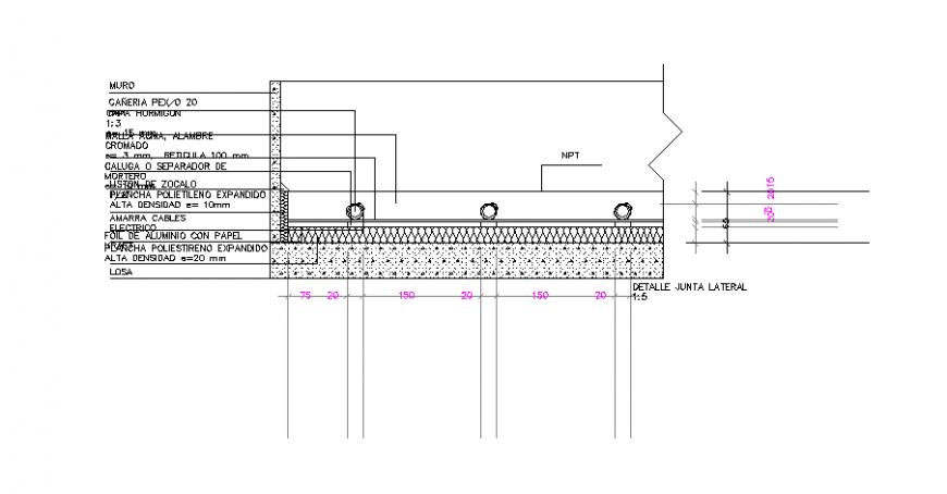 A Flooring section plan autocad file