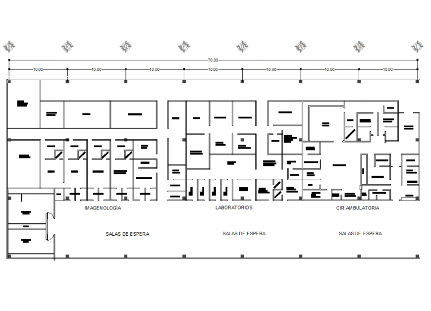 A Line plan commercial building plan autocad file