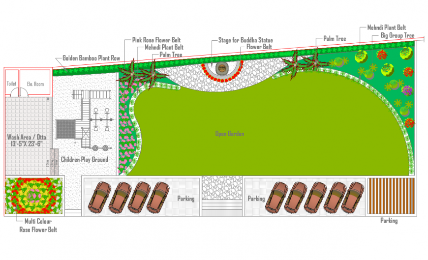 A PDF file of landscaping plan