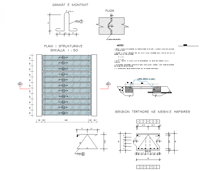 A Tertiary position nemesine space plan and section autocad file