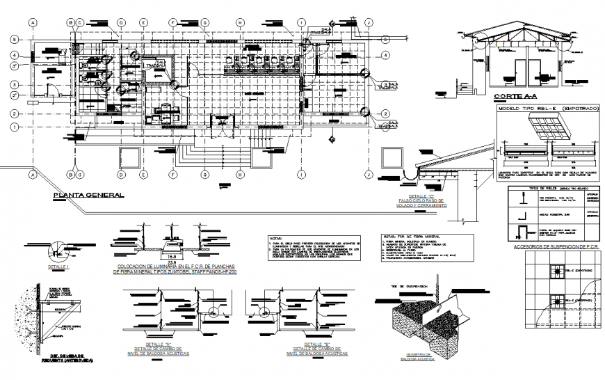 A Working commercial building plan layout file