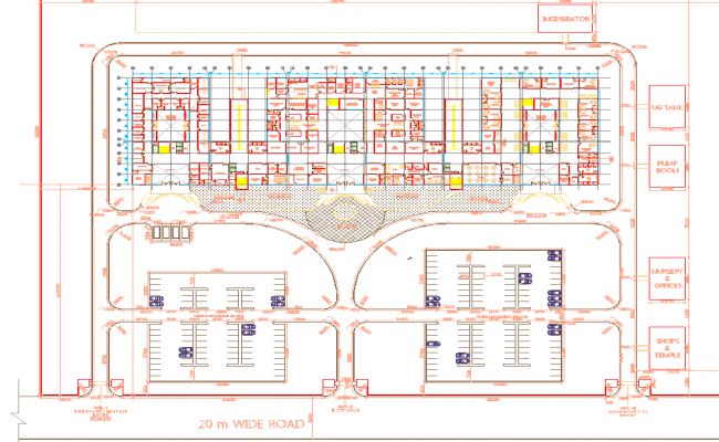 Hospital- Working Drawing (Plans)