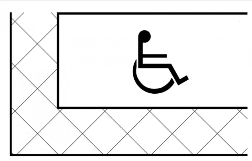 Accesible car park space single