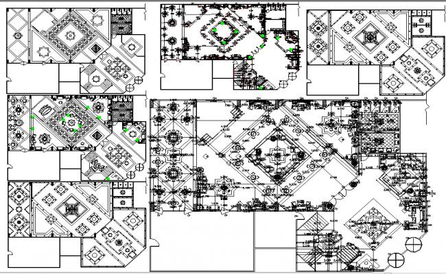 Flooring Design In Cad File