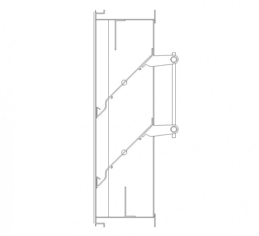 Adjustable drainable louvre plan layout file