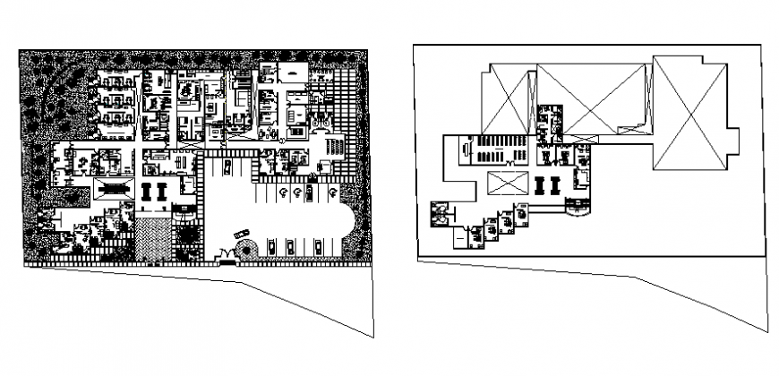 Administration building architecture layout plan cad drawing details dwg file