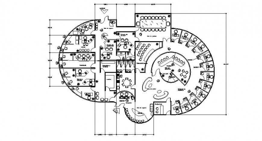 Administration office floor layout plan cad drawing details dwg file