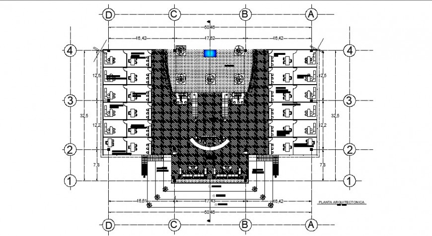 Administration office layout plan of industrial plant cad drawing details dwg file