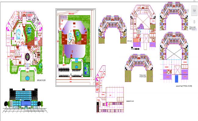 5 Star hotel plan detail file