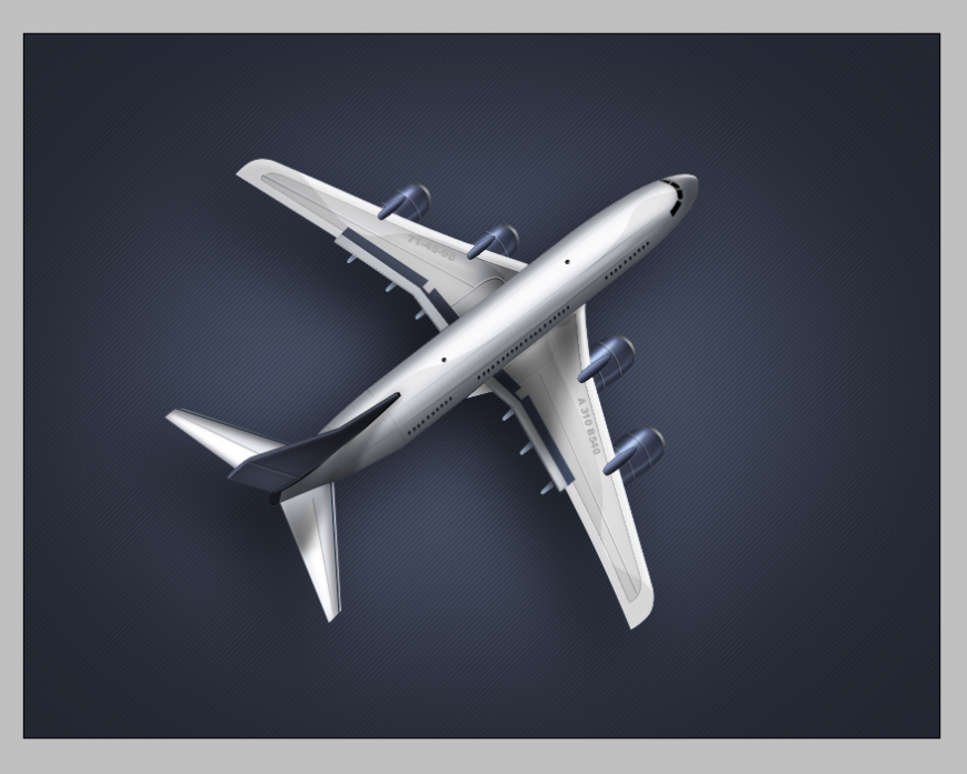 Aero-plane detail elevation 3d model 3d max file
