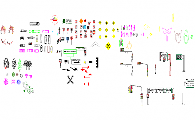 Traffic Autocad Blocks