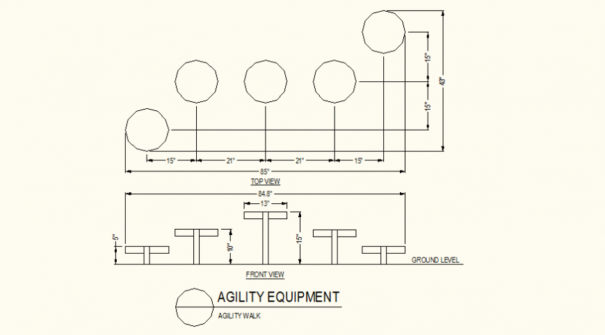 Agility walk detail autocad file