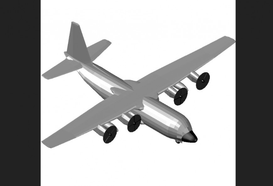 Air-plane plan with detail dwg file.