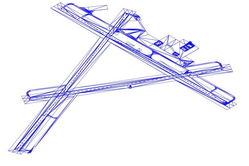 Air field area layout in AutoCAD file