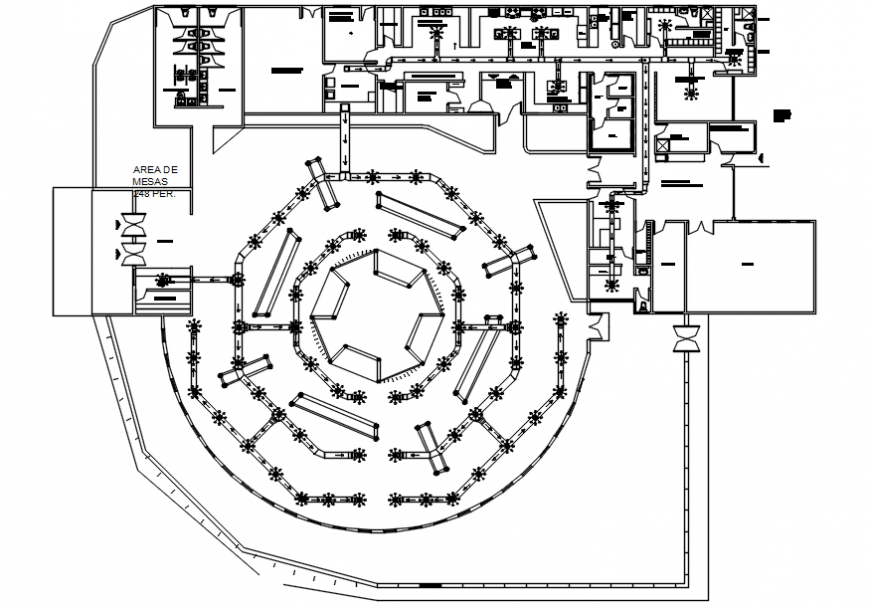 Air pipe and its exit installation view of hotel in AutoCAD