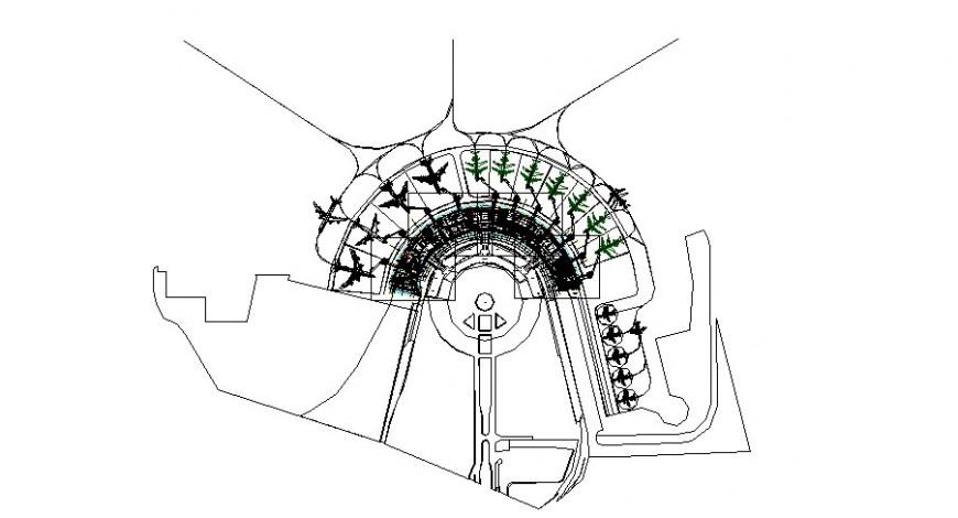 Aircraft platform project detail cad file