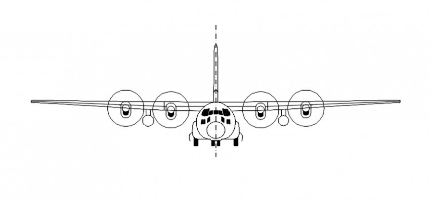 Airplane front sectional model file