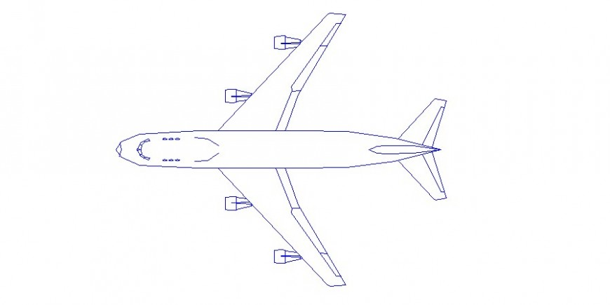 Airplane plan block in AutoCAD file