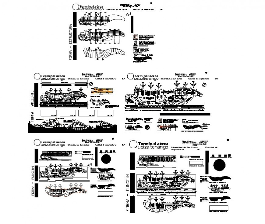 Airport Government structure detail layout file in autocad format