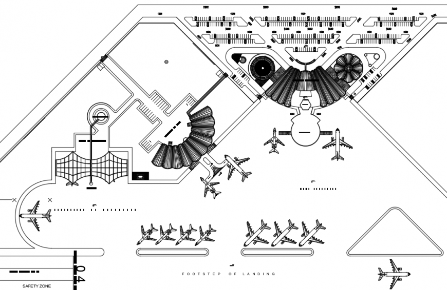 Airport project detail autocad file