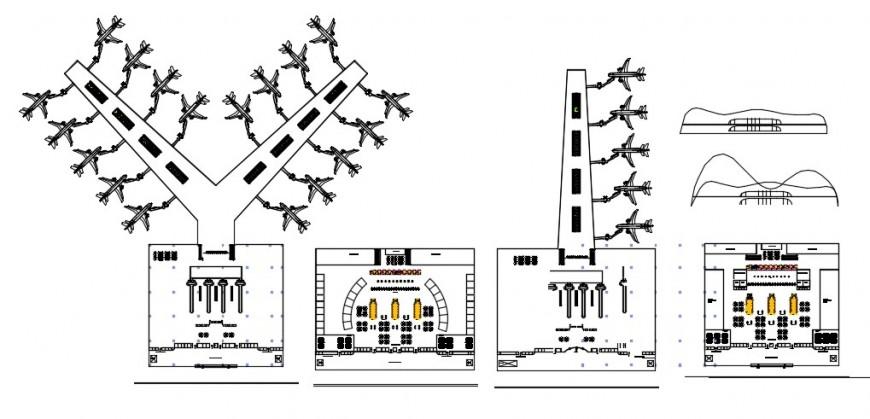 Airport Conceptual Design Cad File Download Cadbull